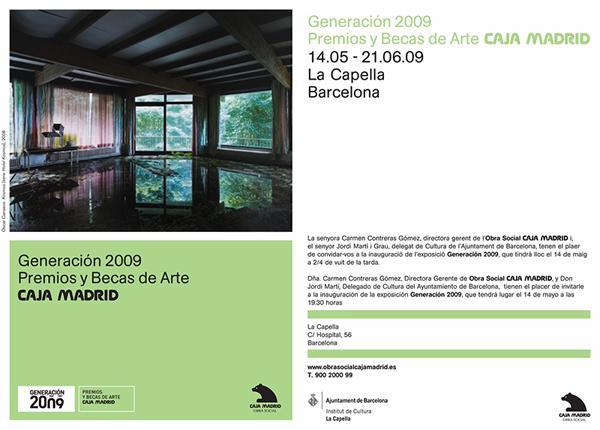 Invitacion exposicion Generaciones 2009 Barcelona