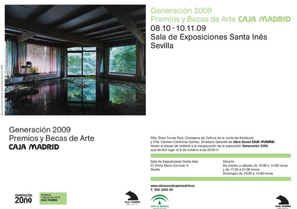 Invitacion exposicion Generaciones 2009 Sevilla