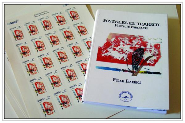 Postal promocional presentacion libro POSTALES EN TRANSITO