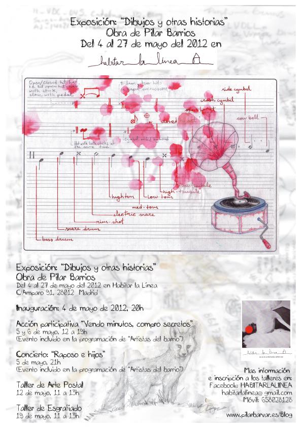 Cartel promo expo de Pilar Barrios en Habitar la línea
