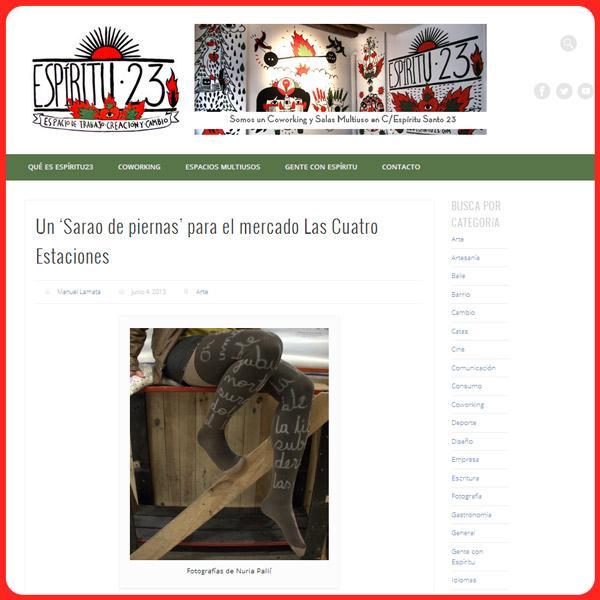 Imagen de la reseña de Sarao de Piernas en la web de Espiritu23