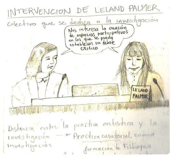 Ilustración ponencia Leland Palmer - MUSAC