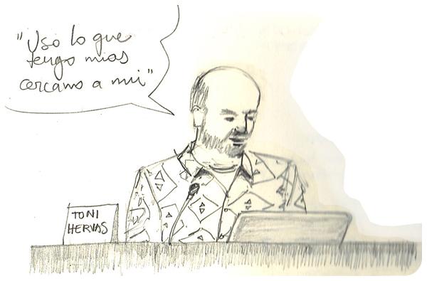 Ilustración ponencia Toni Hervás - MUSAC