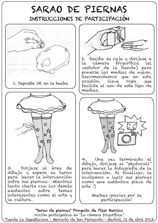 Instrucciones de participación en Sarao de Piernas (Acción artística)