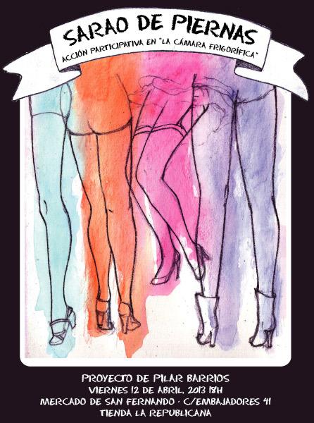 Cartel Sarao de piernas Proyecto de Pilar Barrios