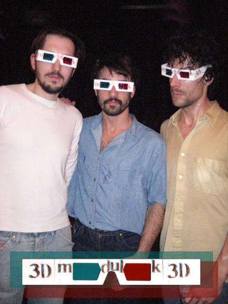 Modulok trio con gafas 3D fotografía