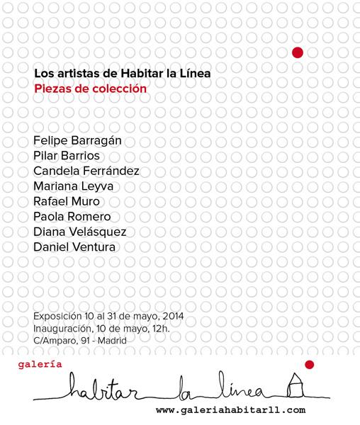 Invitación de la exposición Los artistas de Habitar la Línea